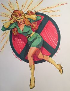 Original Comic Art titled Jean Grey, located in Jeff's Commissions Comic Art Gallery Marvel Girls, Comics Girls, Marvel Heroes, Marvel Comics, Comic Superheroes, Marvel Women, Dragon Ball, Jean Grey Phoenix, Dark Phoenix