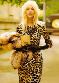 Luxurious leopard is perfect for fall.