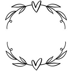 Silhouette Design Store: Heart Wreath With Leaves Silhouette Cameo Projects, Silhouette Design, Wreath Drawing, Heart Wreath, Cricut Creations, Vinyl Projects, Cricut Design, Embroidery Patterns, Creative