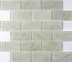 White Sparkle Brick Mosaic
