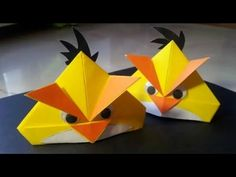 Angry birds paper folding origami