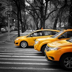 Yellow Cabs in NYC by Gabor Jonas on 500px
