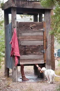 Outdoor shower made from old pallets :)