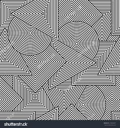 Abstract seamless texture. Vector background with geometric line shapes