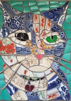 Mitzi by Doon Mosaic Garden Art, Mosaic Diy, Mosaic Crafts, Mosaic Projects, Mosaic Glass, Mosaic Tiles, Art Projects, Tiling, Mosaic Designs
