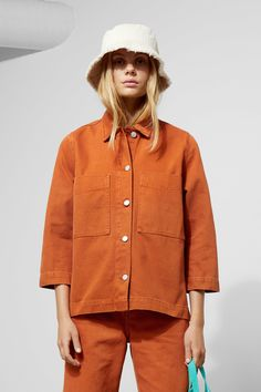 Trip Rust Denim Jacket - Yellow - Jackets The Trip Rust Denim Jacket is a short workwear denim jacke Looks Street Style, Spring Jackets, Jackets For Women, Coats And Jackets, Yellow Jackets, Denim Jackets, Retro Outfits, Unisex Fashion, Trousers