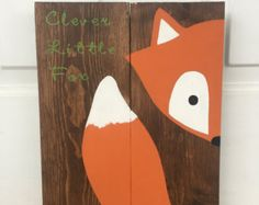Stay clever Little Fox woodland nursery by PrintableLifeStyle