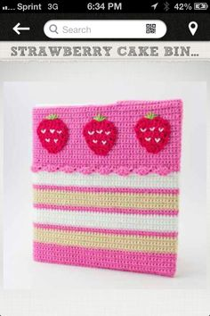 Strawberry binder cover