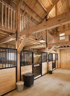 Traditional Combination Barn project by Sand Creek Post & Beam. View this gallery for ideas on your next dream barn. Barn Stalls, Horse Stalls, Dream Stables, Dream Barn, Luxury Horse Barns, Horse Barn Designs, Horse Barn Plans, Farm Barn, Horse Farms