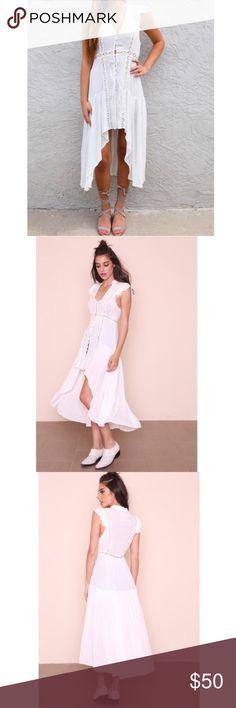 🆕Woven High Low Crochet Dress Brand new Nasty Gal Dresses High Low