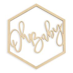 "Oh Baby Wood Sign Laser Cut 20"" Hexagon Laser Cut Wood, Laser Cutting, How To Memorize Things, Things To Come, Wall Backdrops, Hexagon Shape, Flower Wall, Easy Diy Projects, Baby Shower Decorations"