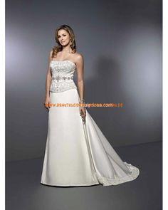 Designe Elegante Brautkleider 2013 aus Satin mit Perlentickerei