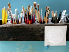 makes me want to display every brush, marker, and pen in the house