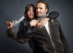 Andrew Lincoln and Norman Reedus Show the Fun Side of Killing Zombies (PHOTOS) – TV Insider