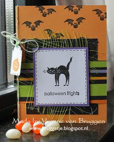 Yvonne's Scrap Blog: Halloween Frights Card Stampin'Up