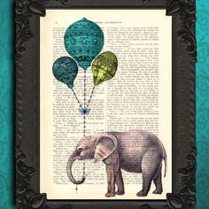Hey, I found this really awesome Etsy listing at http://www.etsy.com/listing/109196099/elephant-print-elephant-wall-art-vintage