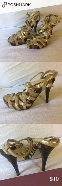 Gorgeous gold  color shoes Gorgeous gold  color shoes Shoes Heels