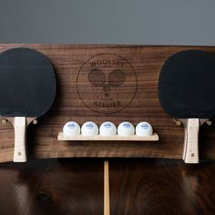 Sean Woolsey's Walnut Wood Ping Pong Table / Dining Table – Game Room İdeas 2020 Ping Pong Room, Ping Pong Table Tennis, Garage Game Rooms, Game Room Basement, Playroom, Pool Table Room, Ping Pong Paddles, Walnut Wood, Things That Bounce