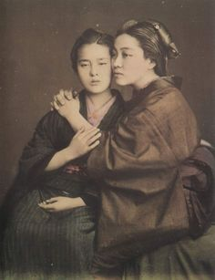 Two woman, ca. 1875 by Baron Raimund von Stillfried
