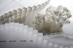thomas heatherwick's tangy silk building in china splits to reveal geometric pattern Fountain Park, Thomas Heatherwick, Art Prints For Home, Tangier, Rural Area, Exhibition Space, Art Gallery, Deco, Studio