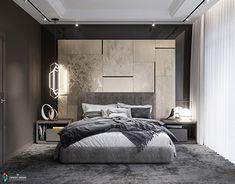 Casa Mia Plovdiv bedroom on Behance Modern Luxury Bedroom, Luxury Bedroom Design, Modern Master Bedroom, Bedroom Furniture Design, Master Bedroom Design, Luxurious Bedrooms, Home Decor Bedroom, Furniture Sets, Apartment Interior