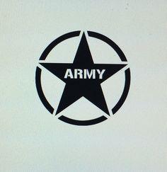 Army Star Die Cut Vinyl Decal by DaizysDezigns on Etsy