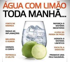 Água com Limão Lemon water every morning, see the benefits. Healthy Cooking, Healthy Life, Best Detox Program, Comidas Fitness, Bebidas Detox, Full Body Detox, Fitness Motivation, Detox Tips, Fitness Models