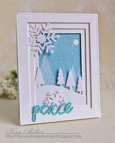 My Joyful Moments: Winter Shadow Box Card
