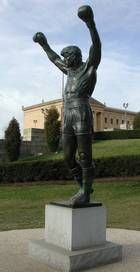 The Rocky statue in Philly
