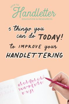 Here are 5 tips to help you take your handlettering & modern calligraphy to the next level! Created by Suzy Grace of How to Handletter #handletteringtips #handlettering #calligraphytips #calligraphyforbeginners #handletteringforbeginners Hand Lettering For Beginners, Calligraphy For Beginners, Calligraphy Tutorial, Hand Lettering Quotes, Brush Lettering, Tombow Brush Pen, Bullet Journal Ideas Pages, Printable Worksheets, Modern Calligraphy