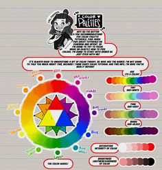 "thundercluck-blog:  ""Hey friends!  Meg here for TUTOR TUESDAY! Just a quick beginning look at coors and some color theory! I've had a few recommendation for color palette stuff, so I hope this is a..."