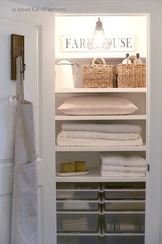 20 Beautifully Organized Linen Closets - The Happy Housie