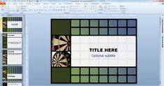 Free Animated Darts Template for PowerPoint 2010 presentations