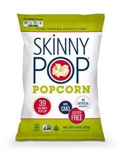 Skinny Pop Popcorn.  Ingredients: non-GMO popcorn, sunflower oil, and salt.