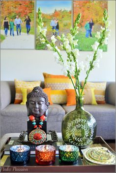 Brass Vignettes, Flower vignettes, Flowers décor, Global Décor, Global Décor Design, India inspired decor, My home, Spring Blooms, Spring Decor, Spring touches around home, Spring vignettes, Global decor, snapdragon décor, Buddha decor