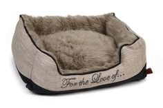 Design by Lotte Dallam Hundeseng Brown Puppies, Cute House, Little Brown, Dog Bed, Tweed, Bean Bag Chair, Beige, Slippers, Throw Pillows