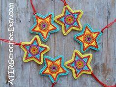 Christmas star set by ATERGcrochet (ready to ship)