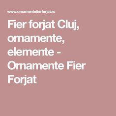 Fier forjat Cluj, ornamente, elemente - Ornamente Fier Forjat