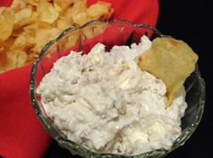 """Bacon-Horseradish Chip Dip   """"This is our family dip recipe. We have it at every family gathering, and it's just not the same without it."""""""