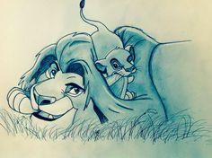 Simba und Mufasa <3 Disney König der Löwen