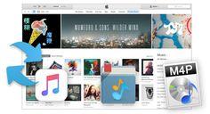 iTunes DRM Audio Converter pour Mac - Convetir les DRM-ed Apple Musique, iTunes M4P musique et des livres audibles en format MP3, AAC sans DRM