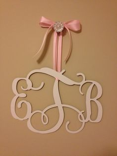 12in Custom Metal Monogram Initials on Etsy, $38.00 - Perfect for a little girl's nursery! or a wedding gift!