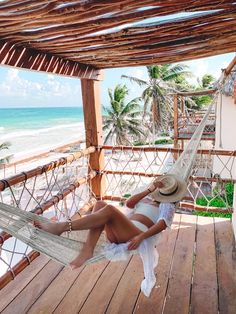 This could be you what are you waiting for pick up the phone and dial the travel agent. Pack you gear, buy the ticket and arrive to this in Paradise. Your hammock awaits you. Be Tulum Hotel, Tulum Mexico Resorts, Tulum Hotels, Cancun Mexico, Mexico City, Maui Vacation, Mexico Vacation, Mexico Travel, Dream Vacations