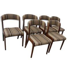 Lot de 6 chaises scandinave vintage