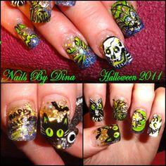 halloween nails 2013 | Style Nail Art: HAPPY HALLOWEEN Nail Art