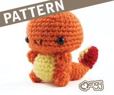 LENA!! Fire Salamander Crochet Amigurumi Pattern by mengy on Etsy, $5.00