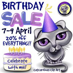 Friday is my birthday and I'm celebrating with a 3 day 20% off sale! Celebrate with me, pop over to my store, checkout my products and download some freebies! :) https://www.teacherspayteachers.com/Store/Catcarolines