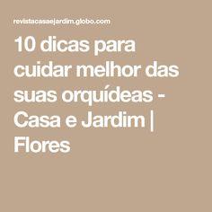 10 dicas para cuidar melhor das suas orquídeas - Casa e Jardim | Flores