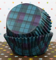 Black Tartan Standard Cupcake Liners by CakeWithLove on Etsy