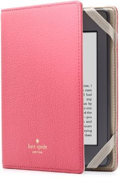 kate spade new york Pebbled Leather Kindle Case Cover, Pink (fits Kindle Paperwhite, Kindle, and Kindle Touch) by kate spade new york, http://www.amazon.com/dp/B005WDVN1K/ref=cm_sw_r_pi_dp_l34Uqb0YKR2SW